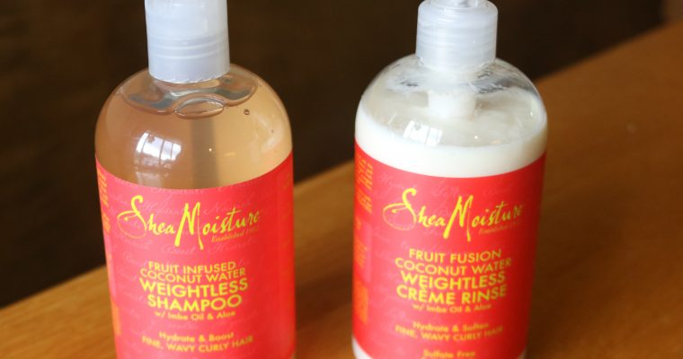 First Impression Review: SheaMoisture Fruit Fusion Coconut Water Weightless (on 2B Waves)