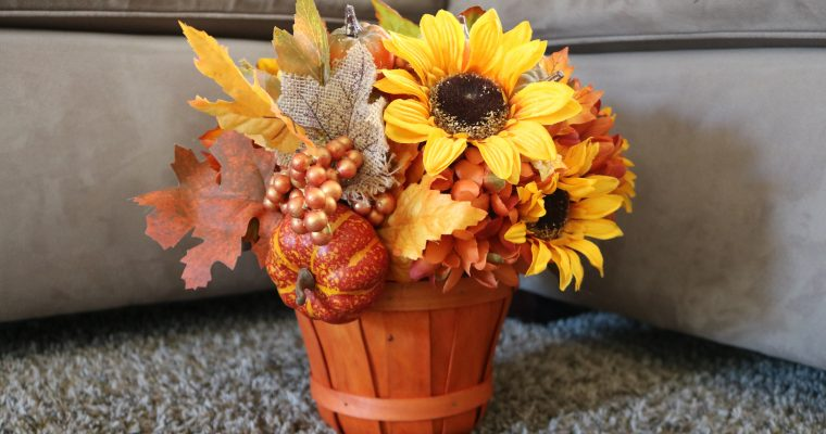 DIY Fall Centerpiece (Under $20!)