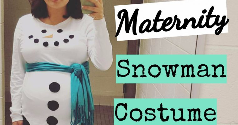 DIY Maternity Snowman Costume: Easy and Only $15!